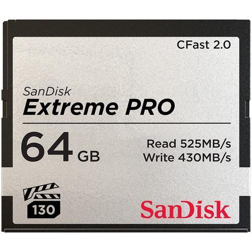 SanDisk Extreme Pro CFast 2.0 525MBs - Front View