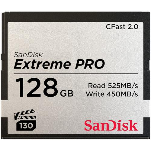 SanDisk Extreme Pro CFast 2.0 525Mb/s - Front View