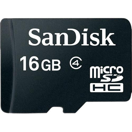 SanDisk MicroSD Class 4 (with Adaptor) - Front View
