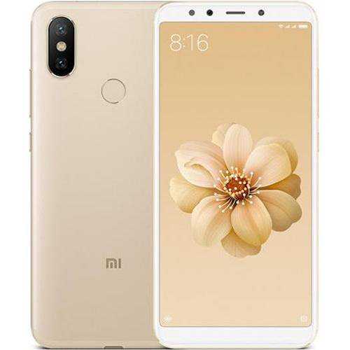 Xiaomi Mi 6X Gold - Front Back View