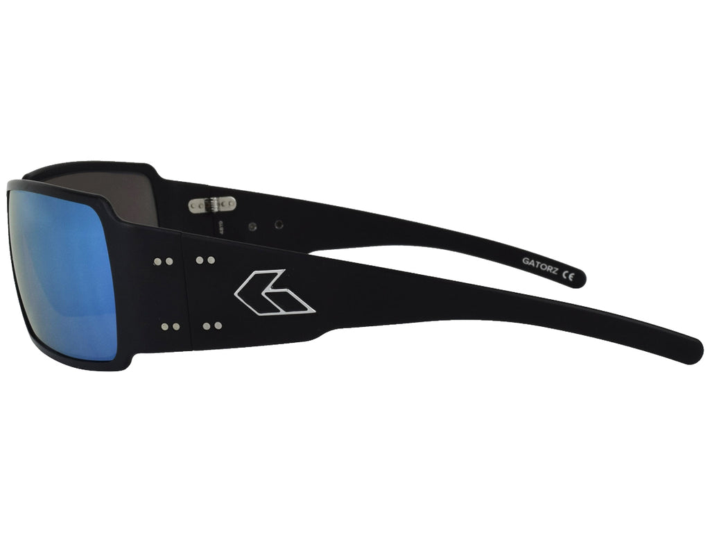 Boxster Black with Smoked Polarized Lens w/ Blue Mirror