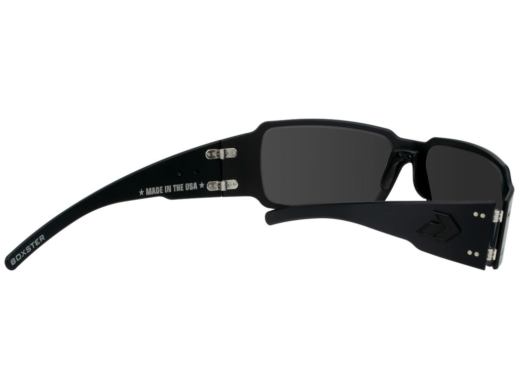 Gatorz Boxster Blackout with Smoked Polarized Lens. Made in USA. Lifetime Warranty. Eyewear Trusted by the Elites