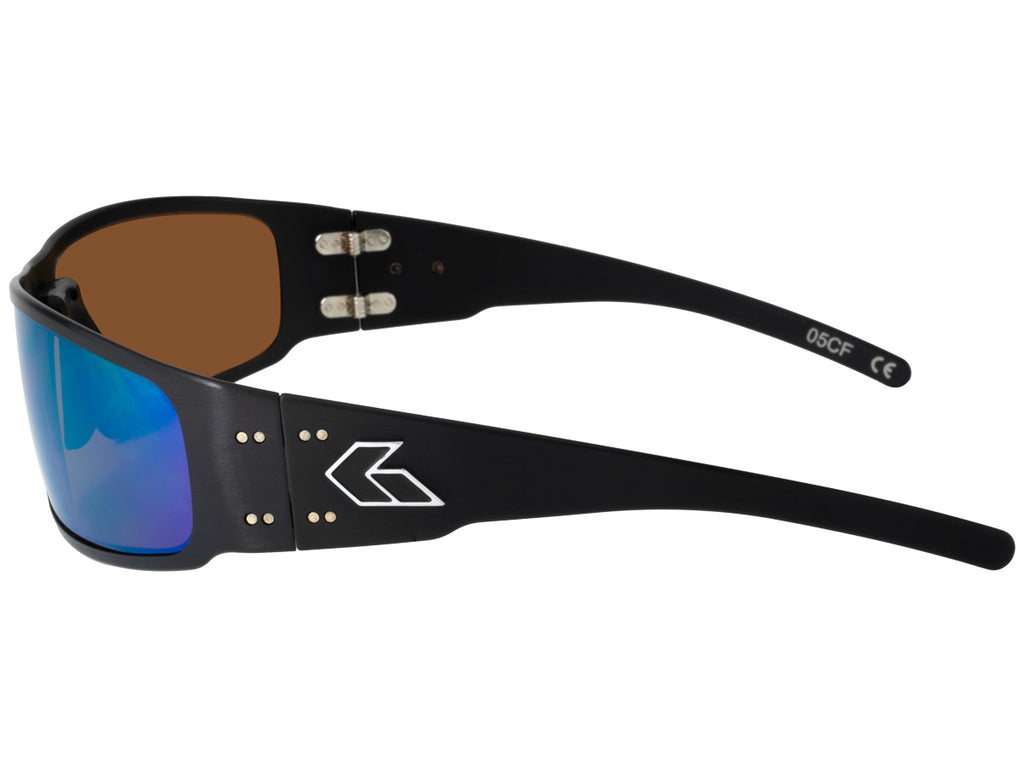 Magnum 2.0 (Asian Fit) Black with Brown Polarized Lens w/ Green Mirror