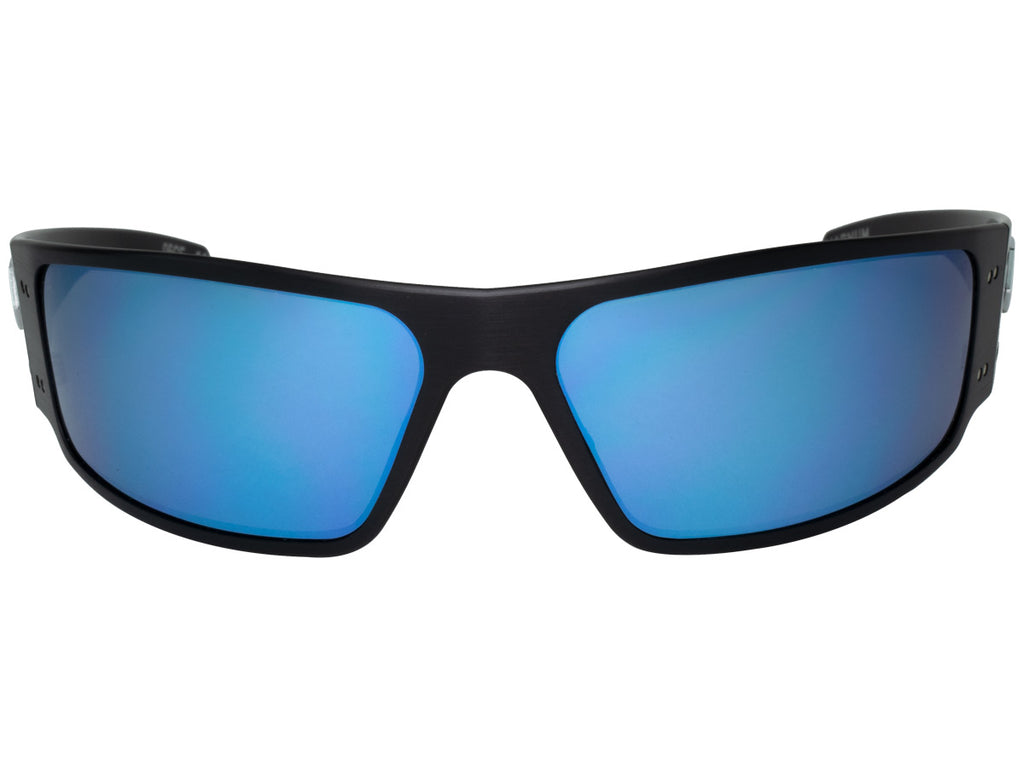 Magnum Black with Smoked Polarized Lens w/ Blue Mirror