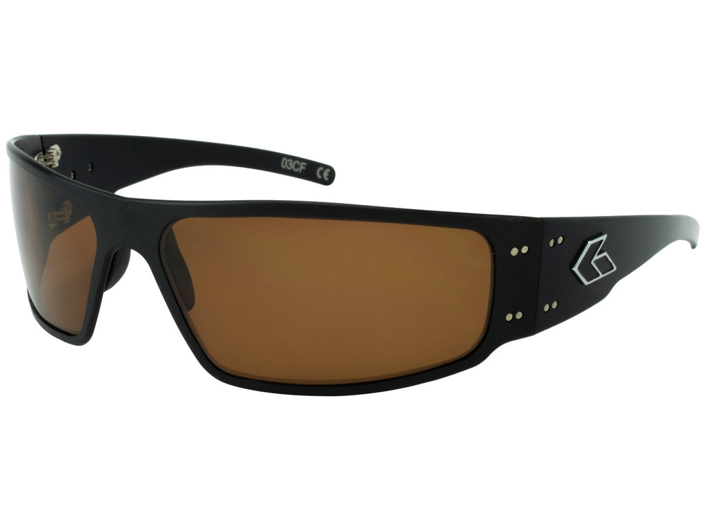 Magnum Black with Brown Polarized Lens