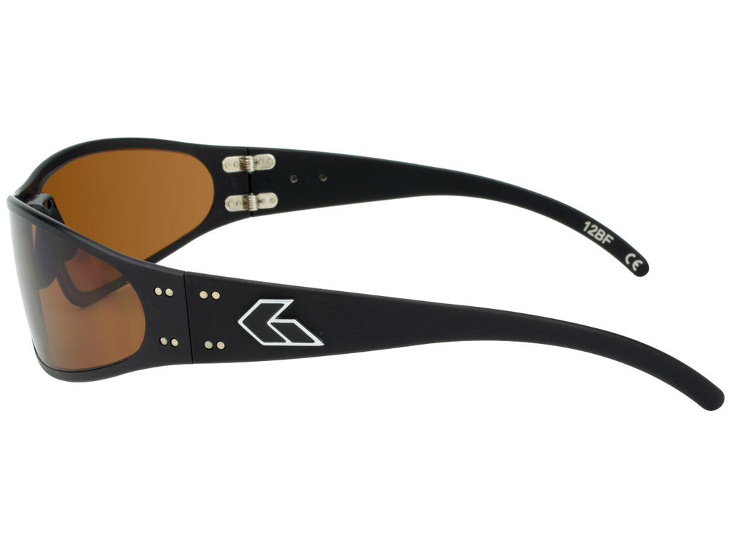 Wraptor Black with Brown Polarized Lens