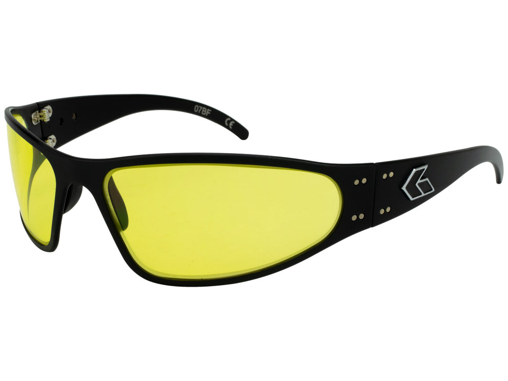 Wraptor Black with Yellow Lens