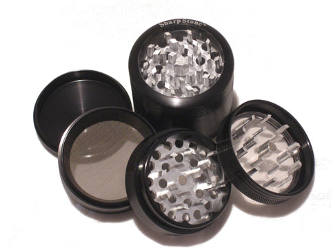 Sharpstone Medium Clear Top 4 Piece  Grinder