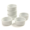 (Set of 6) 4.5 oz. Porcelain Ramekins, White, Bakeware
