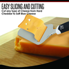 Stainless Steel 8.2 Inch Cheese Plane/Slicer/Server, Soft Ergonomic Handle – Easy Slicing of Soft or Hard Cheese