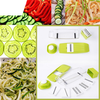 Mandoline Slicer - Adjustable Vegetable Cutter, Grater & Slicer, With 5 Built-in Ultra Sharp Interchangeable Stainless Steel Blades, Food Storage, And Safe Hand Protector