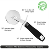 Pizza Cutter Wheel - Industrial Pizza Slicer - Black Ergonomic Smart-Grip Handle