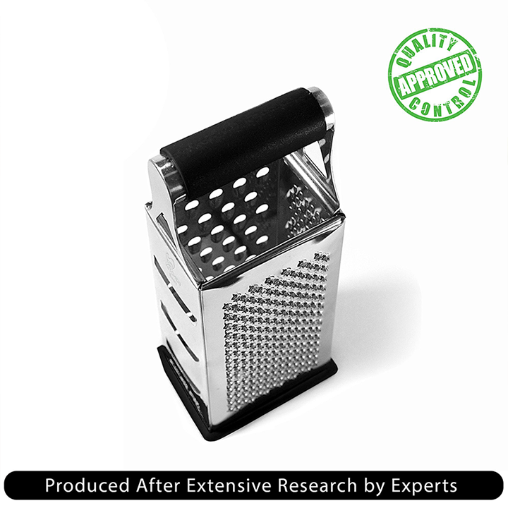 Cheese Grater & Shredder - Stainless Steel - 4 Sided Boxed Grater