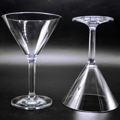 Unbreakable Martini glass set of 2