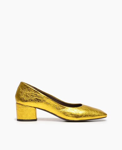 coclico women's metallic citrine elda pump