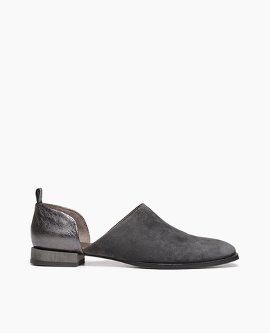 Coclico two piece flat in grey suede