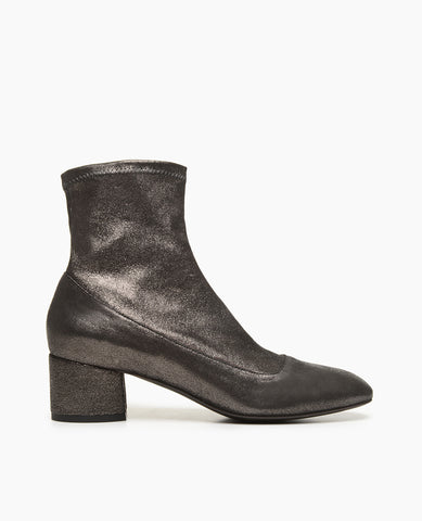 Coclico Metallic Wome's Strech Bootie with Block Heel