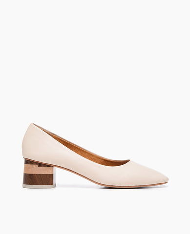 Coclico classic women's pump powder leather
