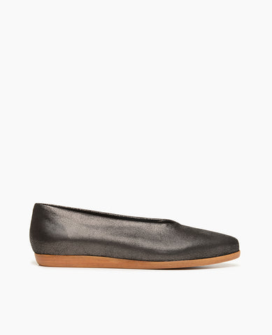 Coclico Polaris Women's Flat in Anthracite Strech Leather