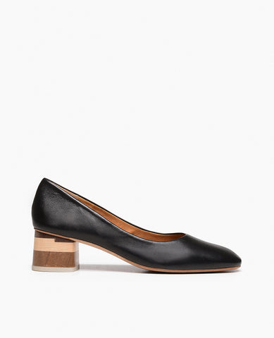 Coclico Classic Epic Women's Pump with Block Wood Heel
