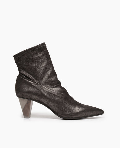 Coclico pointed-toe women's strech boot with wood heel