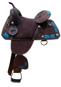 Rough Out Treeless Saddle - Pure Country Bling
