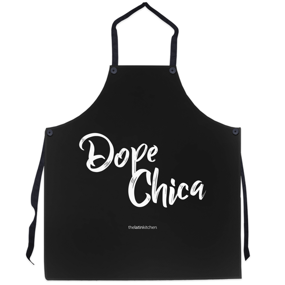 Dope Chica Apron in Black