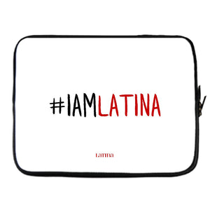 I Am Latina White Laptop Cover