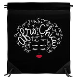 Afro Chica Drawstring Backpack