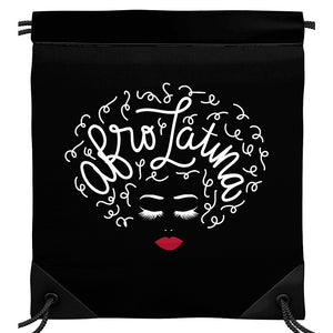 Afro Latina Drawstring Backpack