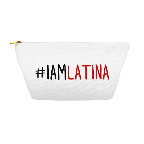 I Am Latina Off-White Accessory Pouch