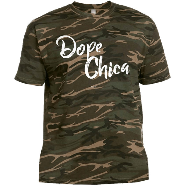 Dope Chica Unisex Camo T-shirt