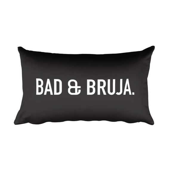 Bad & Bruja Rectangular Pillow in Black