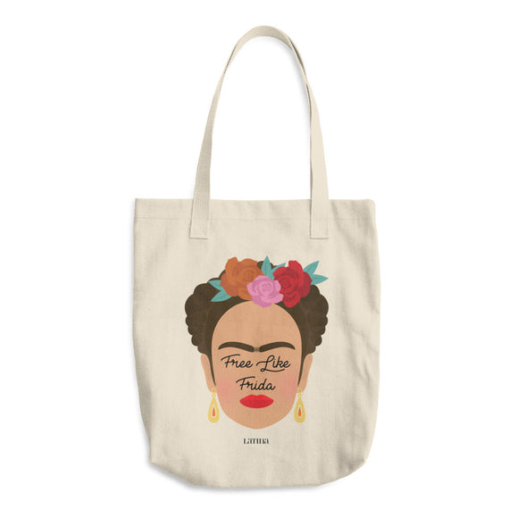 Free Like Frida Cotton Tote Bag