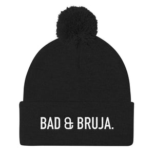 Bad & Bruja Pom Pom Knit Beanie