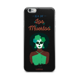 Dia De Los Muertos Girl in Green iPhone 6/6s, 6/6s Plus Case