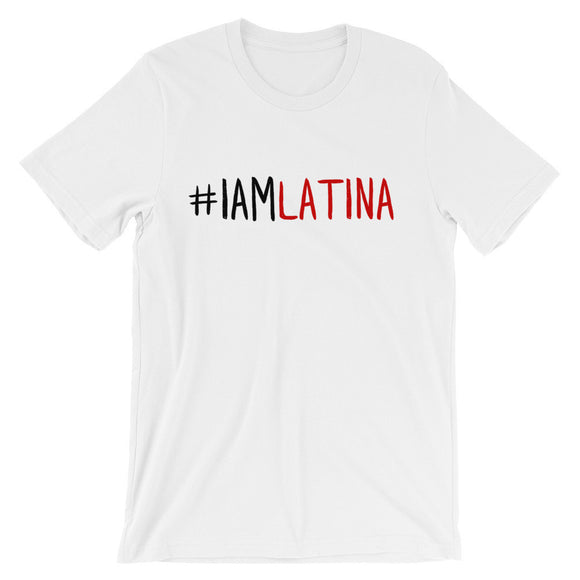 I Am Latina in Red Unisex T-shirt