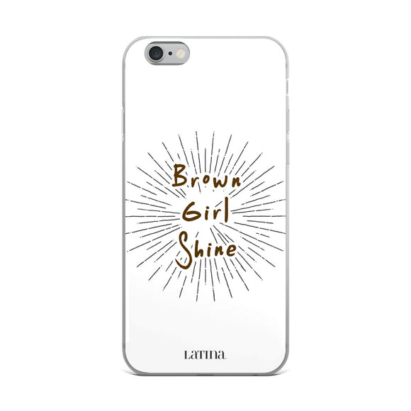 Brown Girl Shine iPhone Case