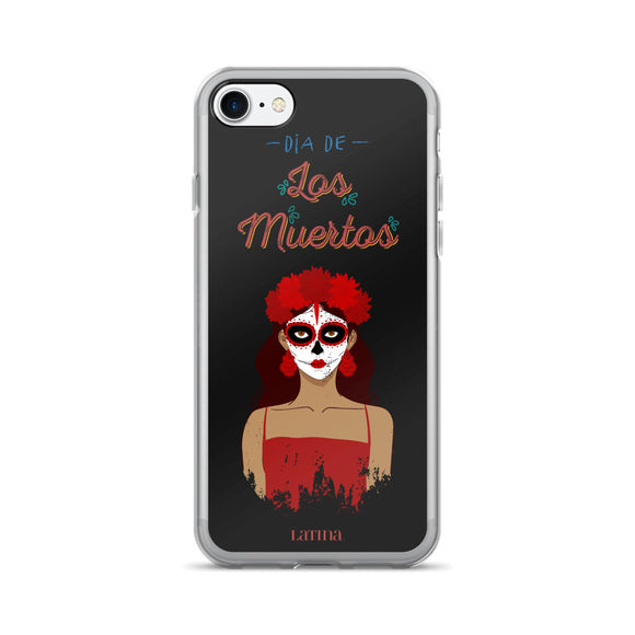 Dia De Los Muertos Girl in Red iPhone 7/7 Plus Case