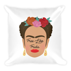 Free Like Frida Square Pillow