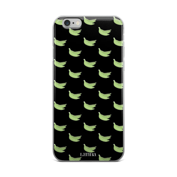 Platanos Pattern iPhone 6/6s, 6/6s Plus Case in Black