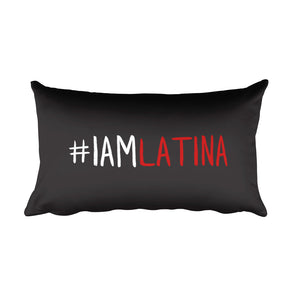 I Am Latina Rectangular Pillow in Black