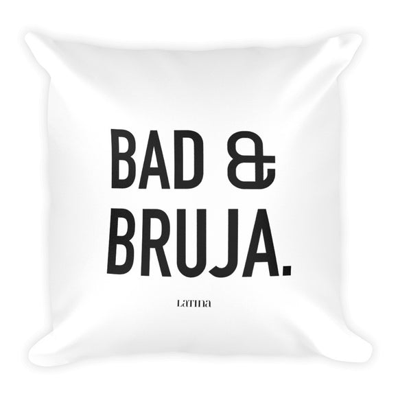 Bad & Bruja Square Pillow