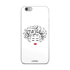 Afro Latina White iPhone 6/6s, 6/6s Plus Case