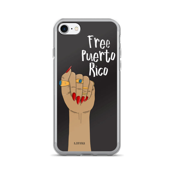 Free Puerto Rico iPhone 7/7 Plus Case in Black
