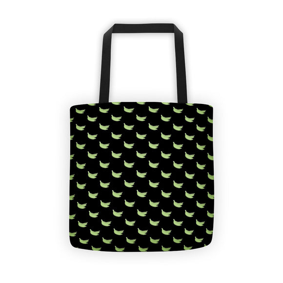 Platanos Pattern Black Tote bag