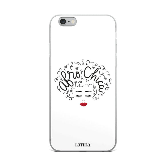Afro Chica White iPhone 6/6s, 6/6s Plus Case