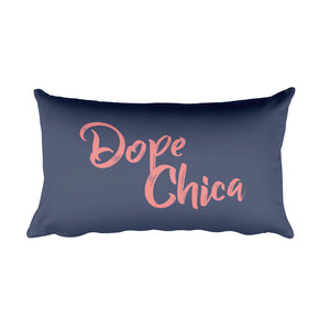 Dope Chica Rectangular Pillow in Blue