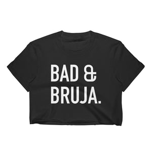 Bad & Bruja Black Crop Top