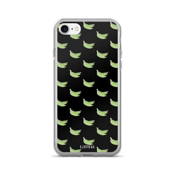 Platanos Pattern iPhone 7/7 Plus Case in Black